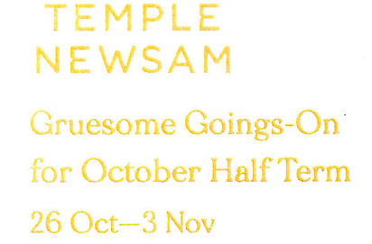 Temple Newsam House Halloween Events 26 October – 3 November